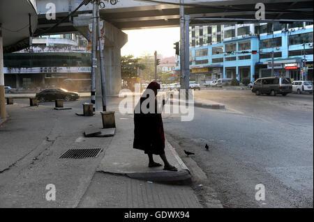 Lonesome monk - Stock Photo