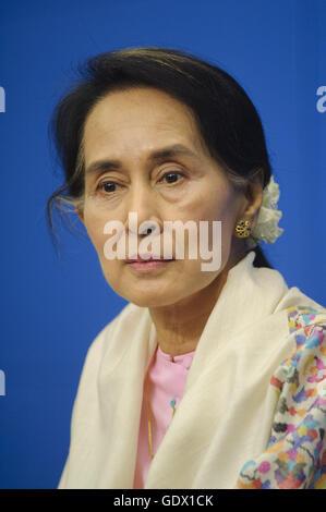 Aung San Suu Kyi - Stockfoto