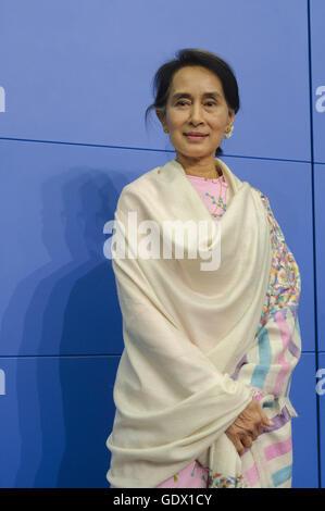 Aung San Suu Kyi - Stock Photo