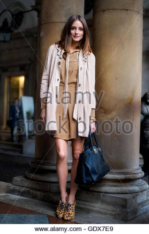Olivia Palermo Street Style Fashion Blogger Olivia Palermo Wearing Stock Photo Royalty Free