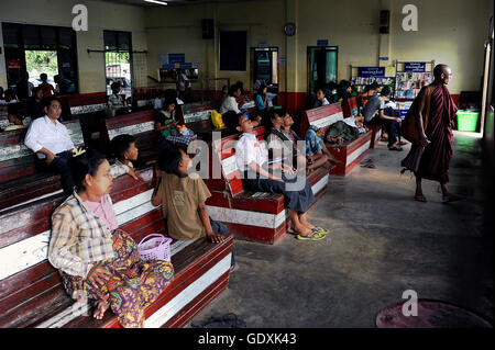 Waiting hall for the Dala ferry - Stock Photo