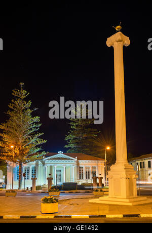 The 28th of October Column in Paphos - Cyprus - Stock Photo