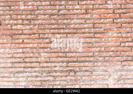 Old red brick wall. Close-up picture of bricks. - Stock Photo