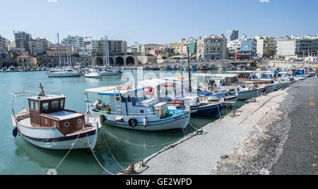 Boat dock of Heraklion port. Crete. Greece. - Stock Photo