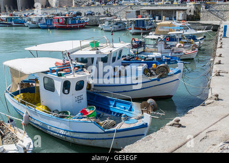 Boat dock of Heraklion port. Crete. - Stock Photo