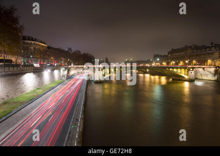 Night lights of Paris - Stock Photo