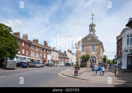 18th century Town Hall in Market Place, Brackley, Northamptonshire, England, United Kingdom - Stock Photo