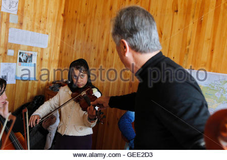 ATTENTION EDITORS - THIS IMAGE IS 4 of 22 TO ACCOMPANY A PICTURE PACKAGE ON AFGHANISTAN'S ONLY MUSIC ACADEMY, BASED - Stock Photo