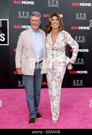 Los Angeles, California, USA. 26th July, 2016. Alan Thicke and Tanya Callau at the Los Angeles premiere of 'Bad - Stock Photo