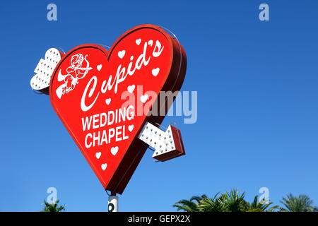 geography / travel, USA, Nevada, Wedding Chapel sign, Las Vegas, - Stock Photo