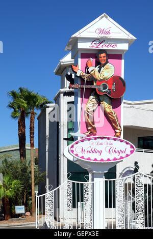 Geography travel usa nevada wedding chapel sign las for Elvis wedding chapel las vegas