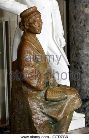 A state of civil rights activist Rosa Parks is pictured after its unveiling in Statuary Hall in the U.S. Capitol - Stock Photo