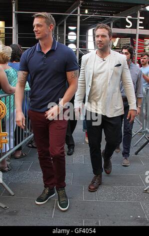 New York, USA. 28th July, 2016. Joel Kinnaman and Jai Courtney visit 'Good Morning America' to promote the movie - Stock Photo