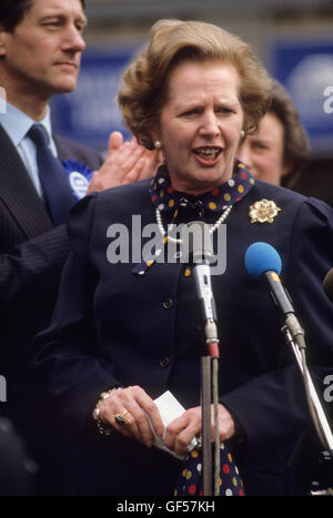 Mrs Maggie Margaret Thatcher General Election 1983. Uk . HOMER SYKES - Stock Photo