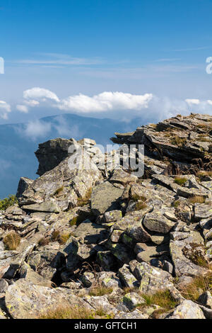 The view from the top of the mountain Babia Gora, National Park, Poland, Europe. - Stockfoto