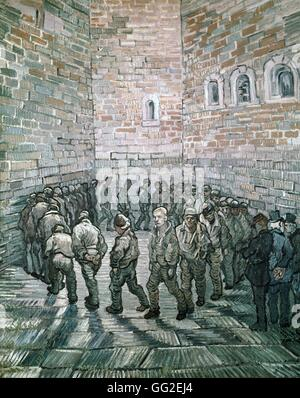 Vincent van Gogh Dutch school Prisoners' Round or Prisoners Exercising 1890 Oil on canvas (80 x 64 cm) Moscow, The - Stock Photo