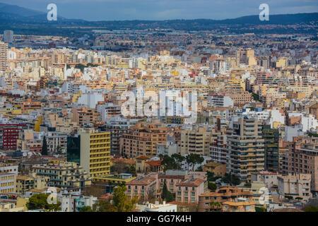 View of Palma from Castell de Bellver (Bellver Castle), Majorca, Spain - Stock Photo