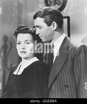 FREMDE STADT / Magic Town USA 1947 / William Wellman Filmszene mit JANE WYMAN (Mary Peterman) und JAMES STEWART - Stock Photo