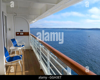 Balcony view from cruise ship stock photo royalty free for Cruise ship balcony view