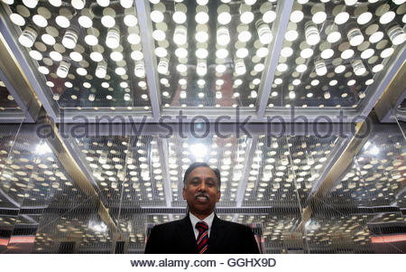 Infosys Chief Executive S.D. Shibulal poses for a picture after an interview with Reuters near his office inside - Stockfoto