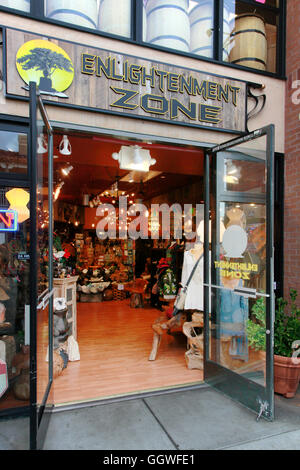 The ENLIGHTENMENT ZONE store on CANNERY ROW - MONTEREY, CALIFORNIA - Stock Photo