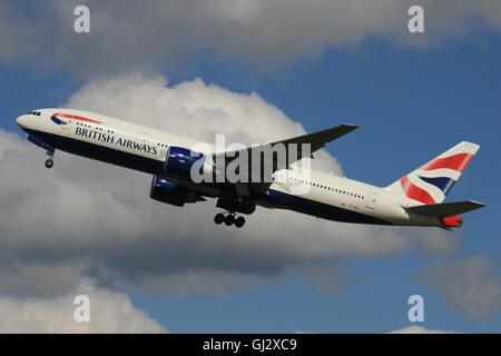 BRITISH AIRWAYS 777 - Stock Photo