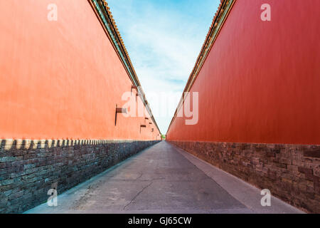 East Path is near Tranquility and Longevity Palace in the Inner Court of the Forbidden City - Stockfoto