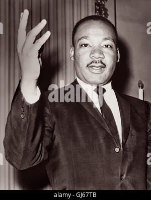 Martin Luther King Jr. (1929-1968), American Baptist minister and activist leader in the African-American Civil - Stock Photo