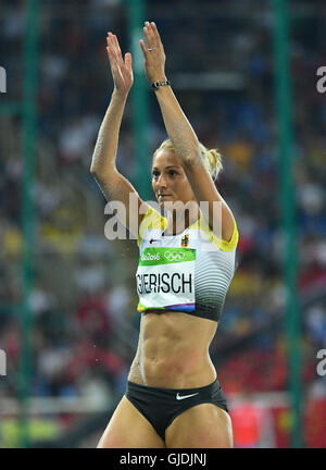 Rio de Janeiro, Brazil. 14th Aug, 2016. Kristin Gierisch of Germany competes in Women's Triple Jump Final of the - Stockfoto