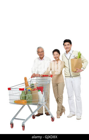 Studio shot a man shopping - Stock Photo