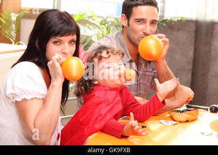 comic clown balloon - Stockfoto