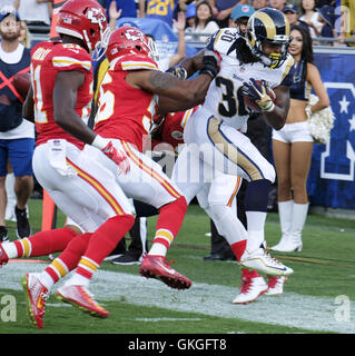 Los Angeles Rams' Todd Gurley catches the ball under ...