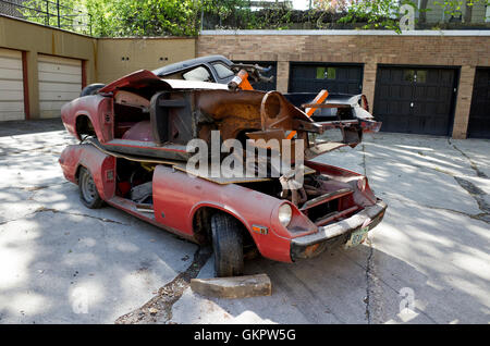 Old Junk Yard Cars On Lot In Ely Nevada Usa Stock Photo