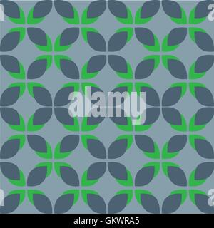 Nature seamless pattern of colored leaves. Vector illustration - Stock Photo