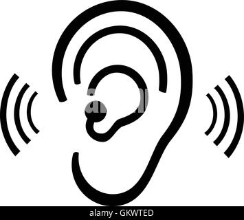 Ear symbol - Stock Photo
