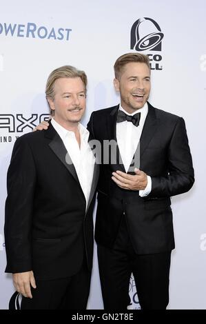 Los Angeles, CA, USA. 27th Aug, 2016. David Spade, Rob Lowe at arrivals for Comedy Central Roast of Rob Lowe, Sony - Stock Photo