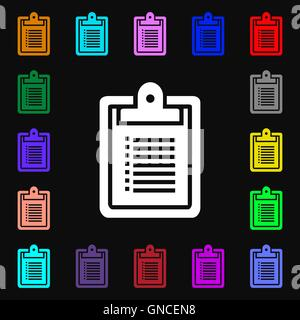 notebook icon sign. Lots of colorful symbols for your design. Vector - Stock Photo