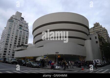 Solomon R. Guggenheim Museum in New York City - Stock Photo