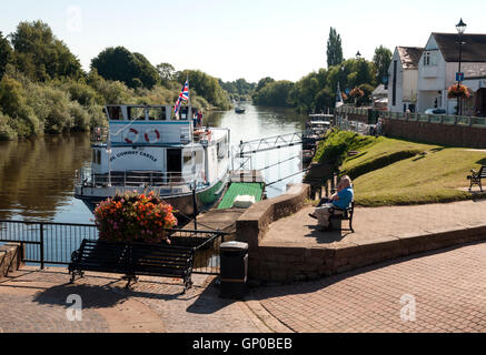 The River Severn at Upton-upon-Severn, Worcestershire, England, UK - Stockfoto