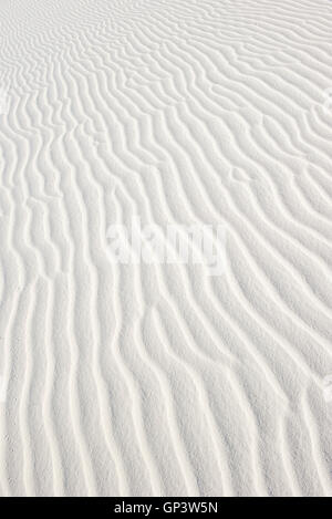 Rippled white sand, full frame - Stock Photo