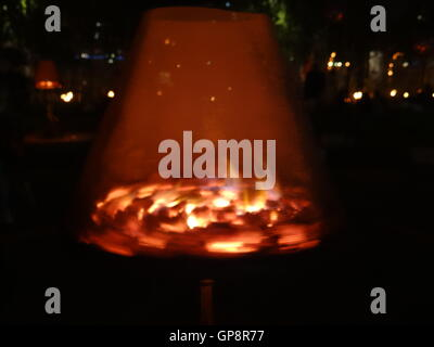 Fire Garden for 350th anniversary of London Great Fire in 1666, London,UK, 2 September 2016 Credit:  Nastia M/Alamy - Stockfoto