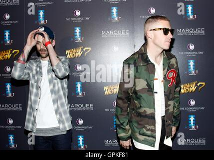 Las Vegas, NV, USA. 4th Sep, 2016. Ryan Lewis, Macklemore at arrivals for Third Annual HartBeat Weekend at Boulevard - Stock Photo