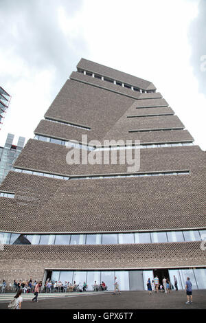 Tate Modern's New Switch House Extension Exterior Architecture - London UK - Stock Photo