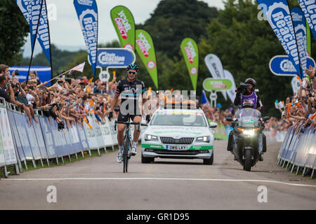 Cheshire, UK. 6th September, 2016. Ian Stannard of Team Sky comfortably wins Stage 3 of the 2016 Tour of Britain - Stock Photo