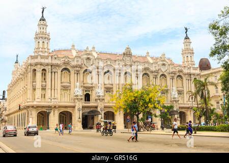 Gran Teatro de la Habana Alicia Alonso, Galician Centre building, home of the Cuban National Ballet, Havana, Cuba - Stock Photo
