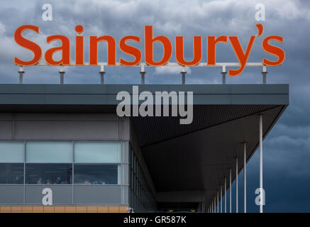The Sainsbury S Sign At The Supermarket Store In