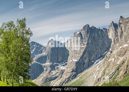 Trollveggen Norway the Troll Wall the highest vertical ...