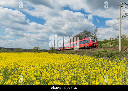 Talent-2 Railcars Of Deutsche Bahn In Orlamünde, Thuringia, Germany - Stock Photo