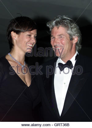 American actor Richard Gere poses with his wife Carey at the 57th Venice film Festival September 1, 2000. Gere is - Stock Photo