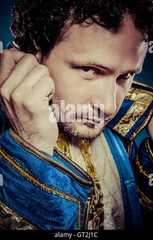 Blue prince, royal concept, funny fantasy picture - Stockfoto